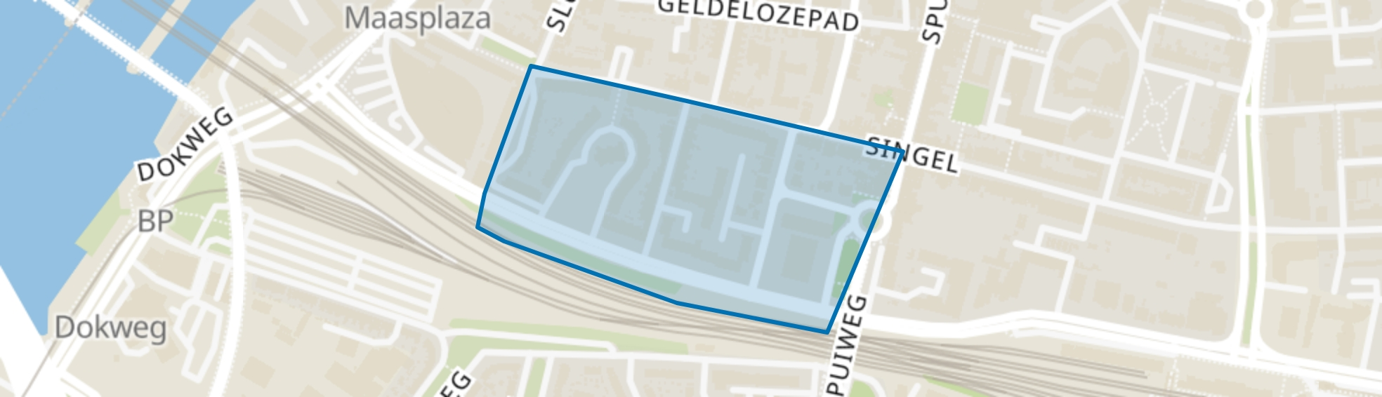 Rozenhof en omgeving, Dordrecht map