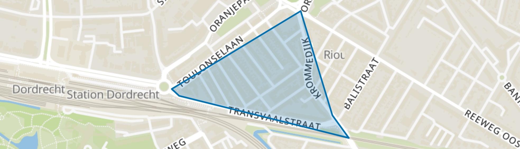 Transvaalstraat en omgeving, Dordrecht map