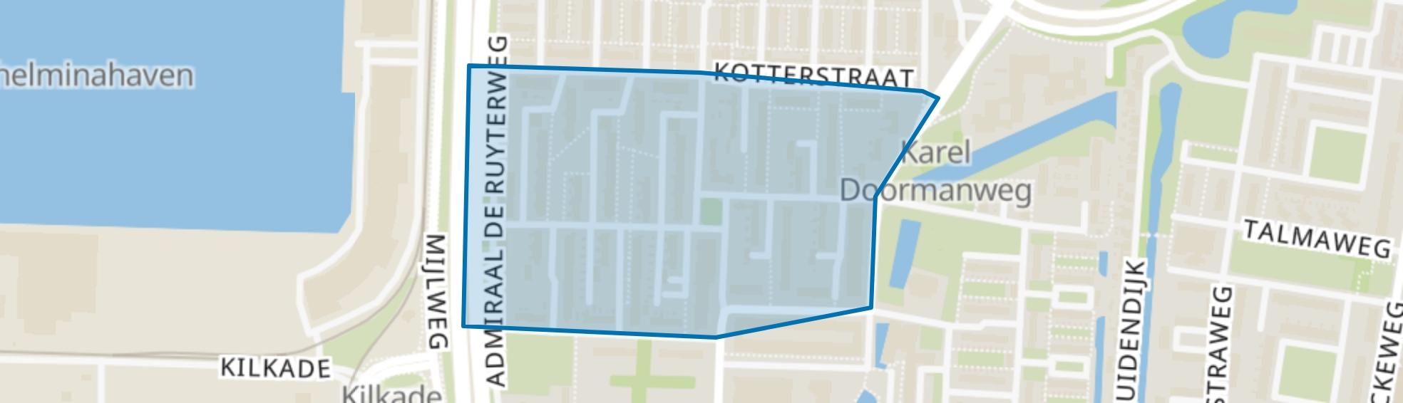 Van Ewijckstraat en omgeving, Dordrecht map