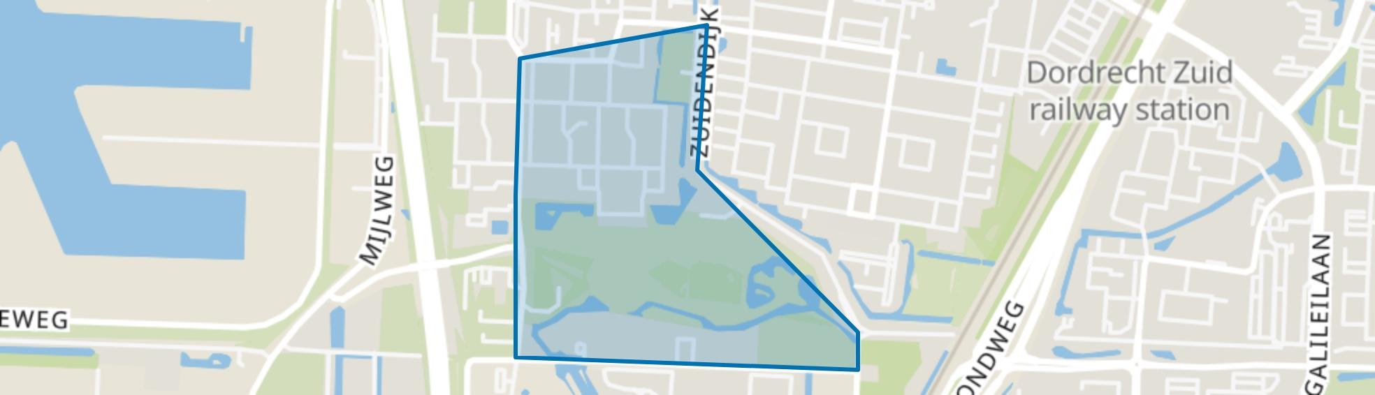 Van Kinsbergenstraat en omgeving, Dordrecht map