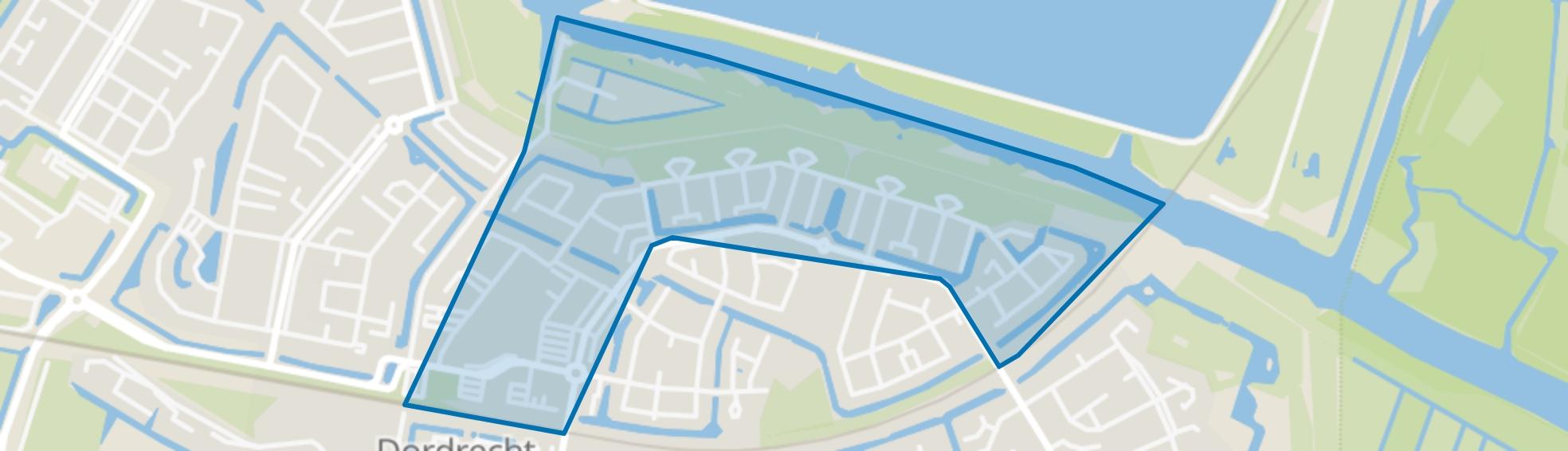 Van Ravesteijn-erf en omgeving, Dordrecht map