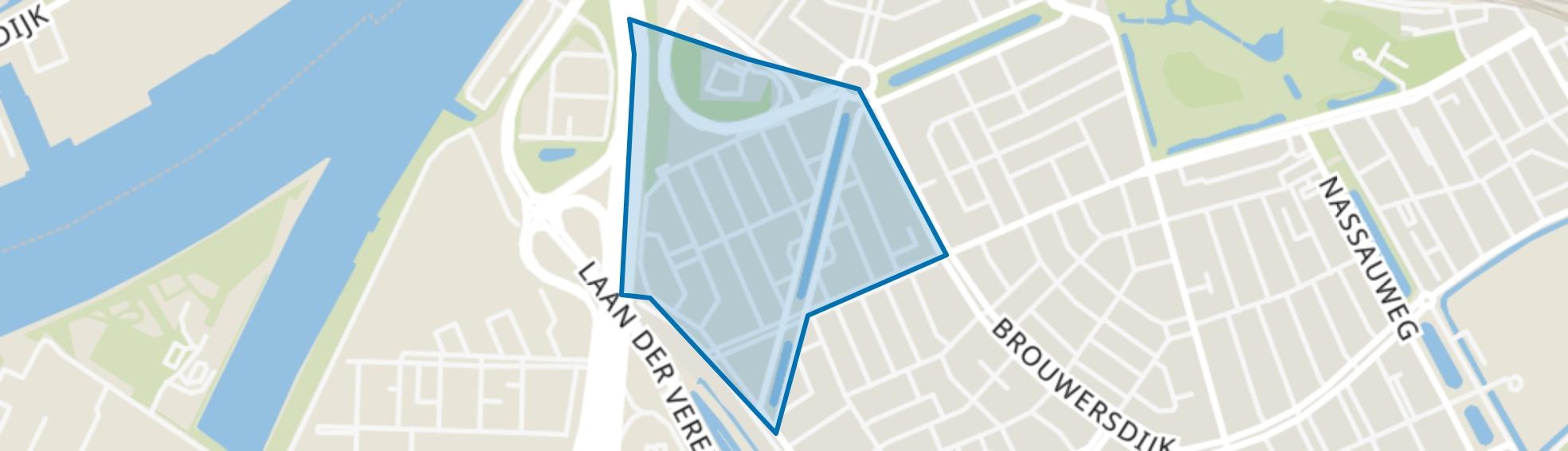 Viottakade en omgeving, Dordrecht map