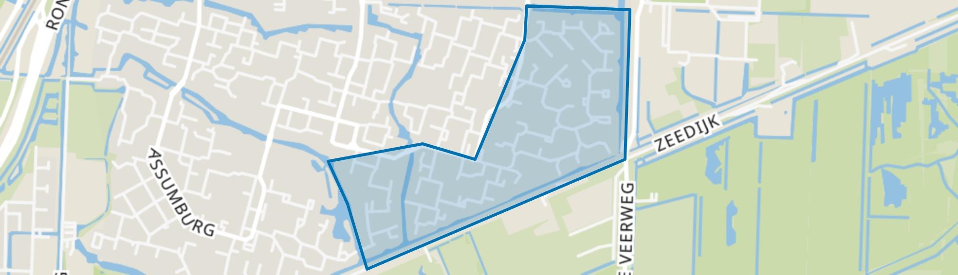 Vredenburg en omgeving, Dordrecht map