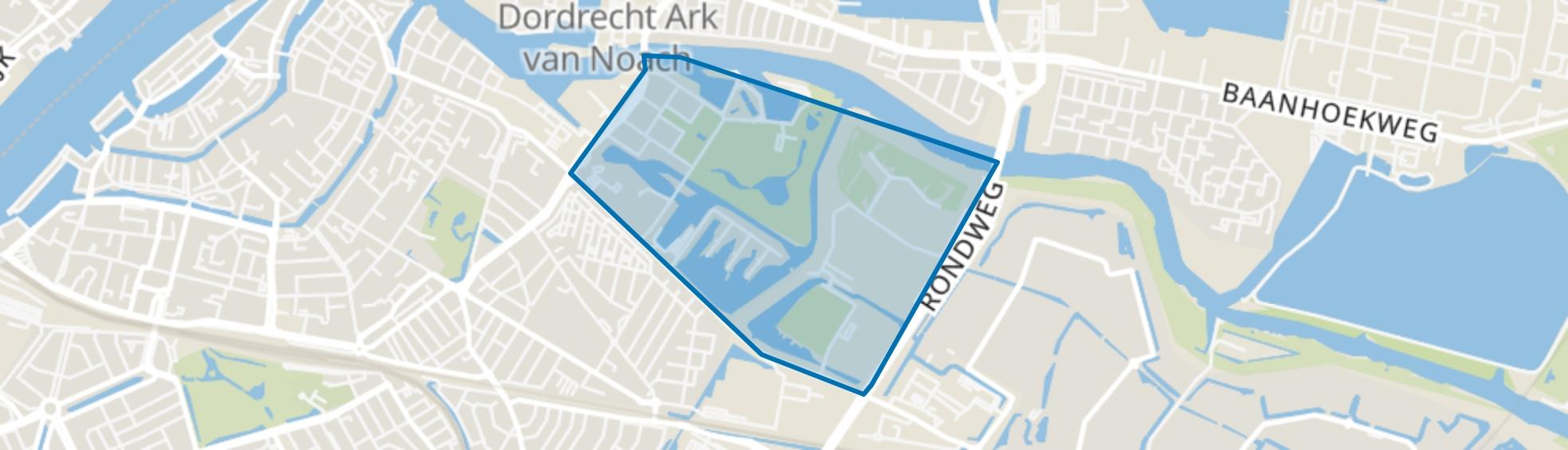 Wantijpark en omgeving, Dordrecht map