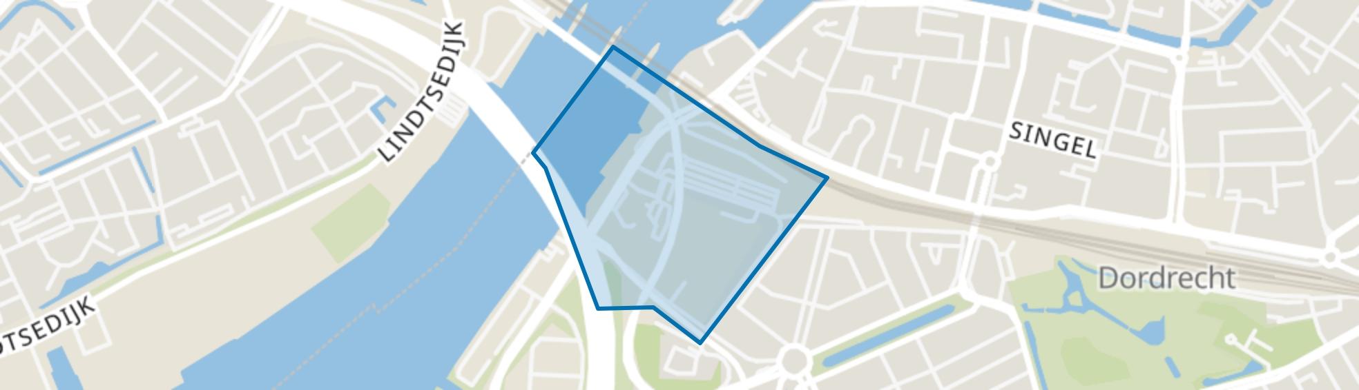 Weeskinderendijk en Dokweg, Dordrecht map