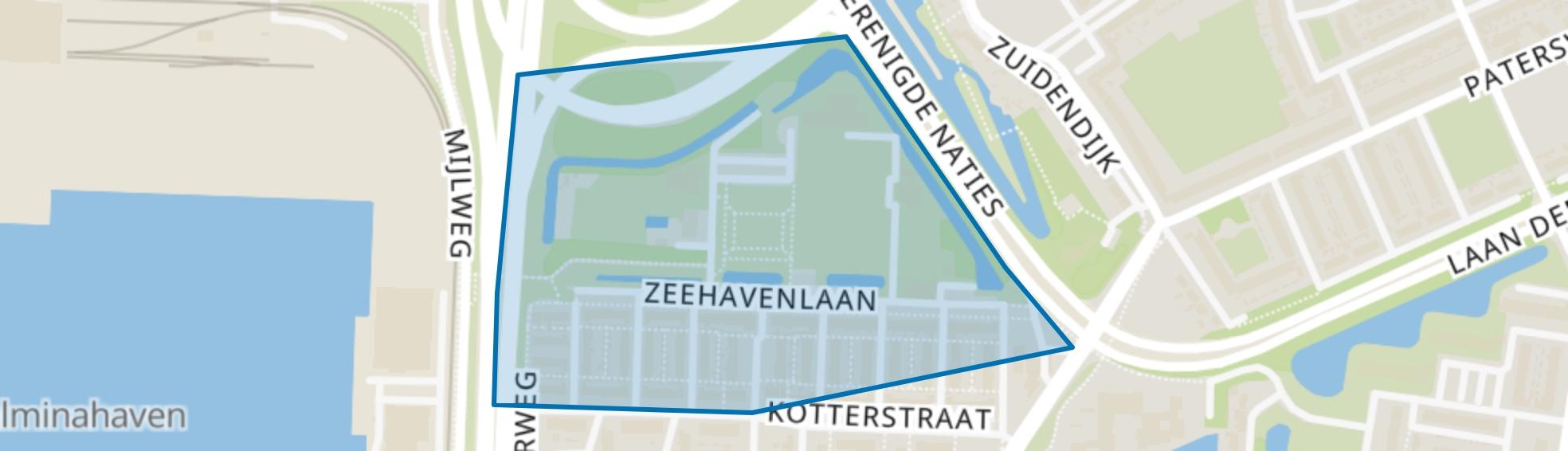 Zeehavenlaan en omgeving, Dordrecht map