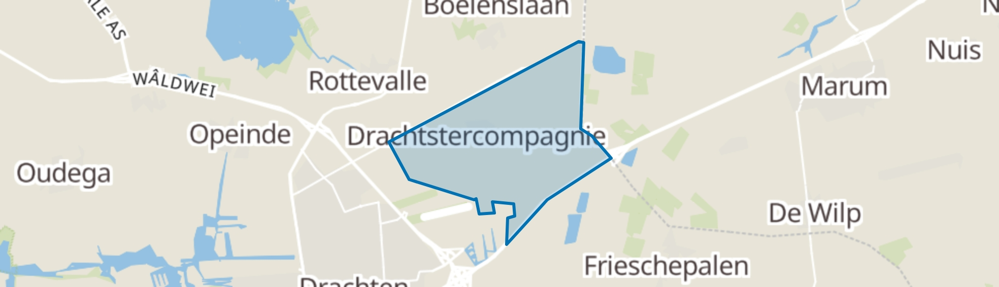 Drachtstercompagnie map
