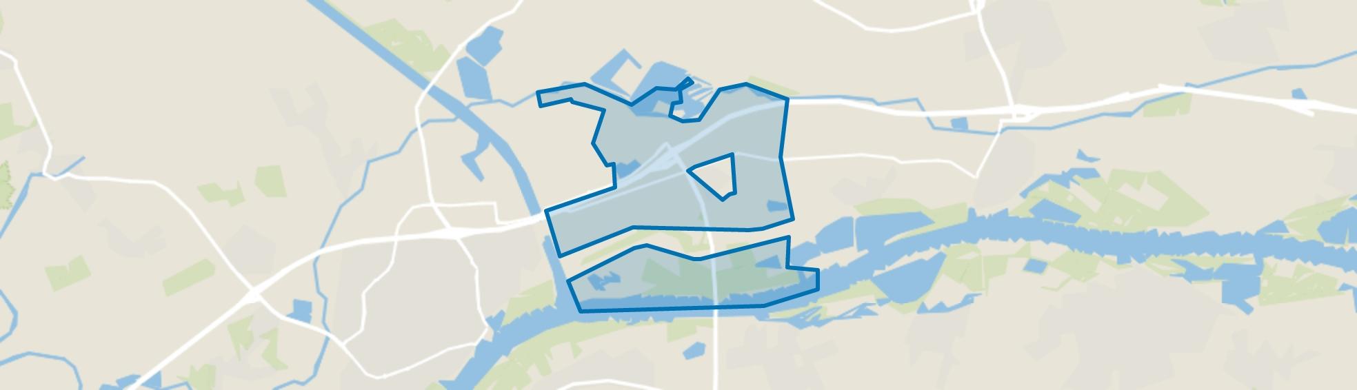 Verspreide huizen Echteld, Echteld map