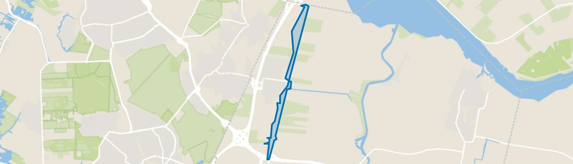 Wakkerendijk-Meentweg, Eemnes map