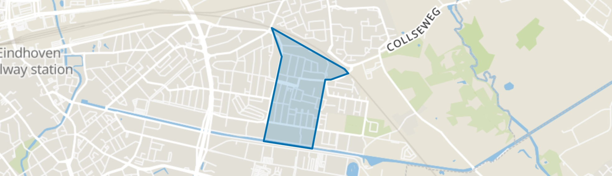 Doornakkers-Oost, Eindhoven map