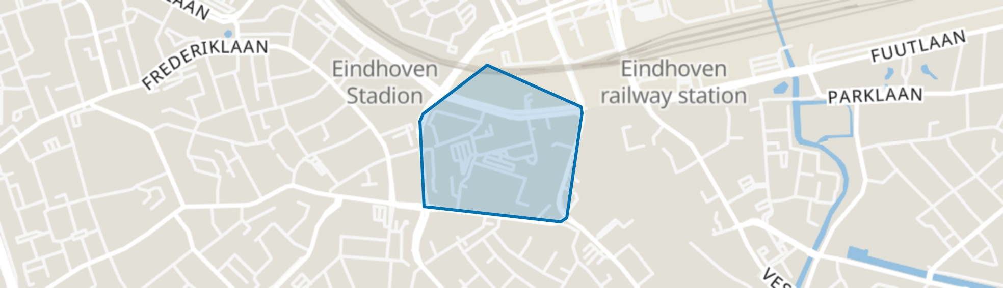 Witte Dame, Eindhoven map