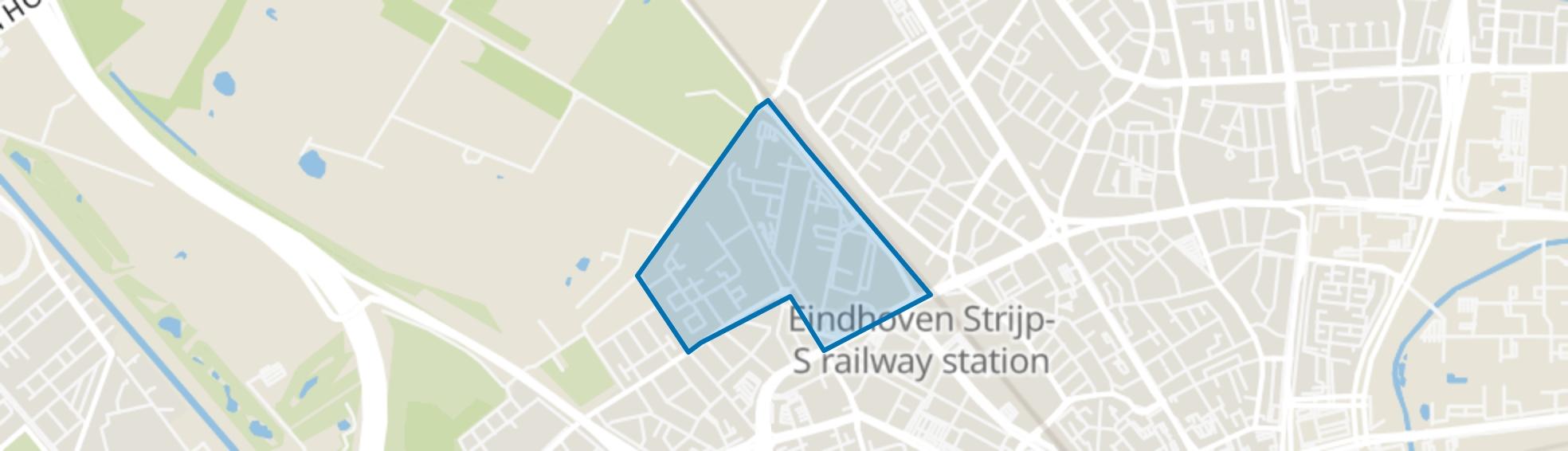 Zwaanstraat, Eindhoven map