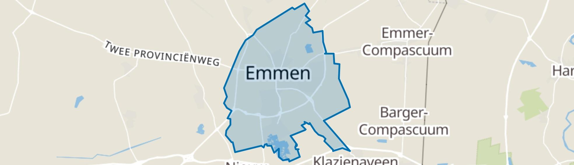 Emmen map