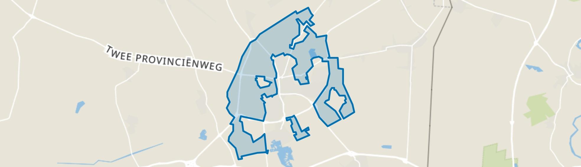 Verspreide huizen Emmen, Emmen map