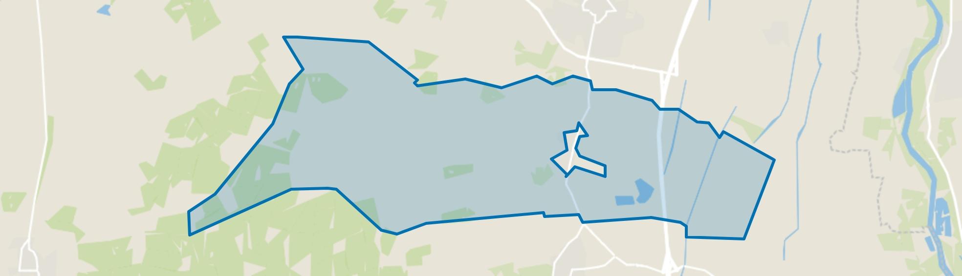 Buitengebied Emst, Emst map