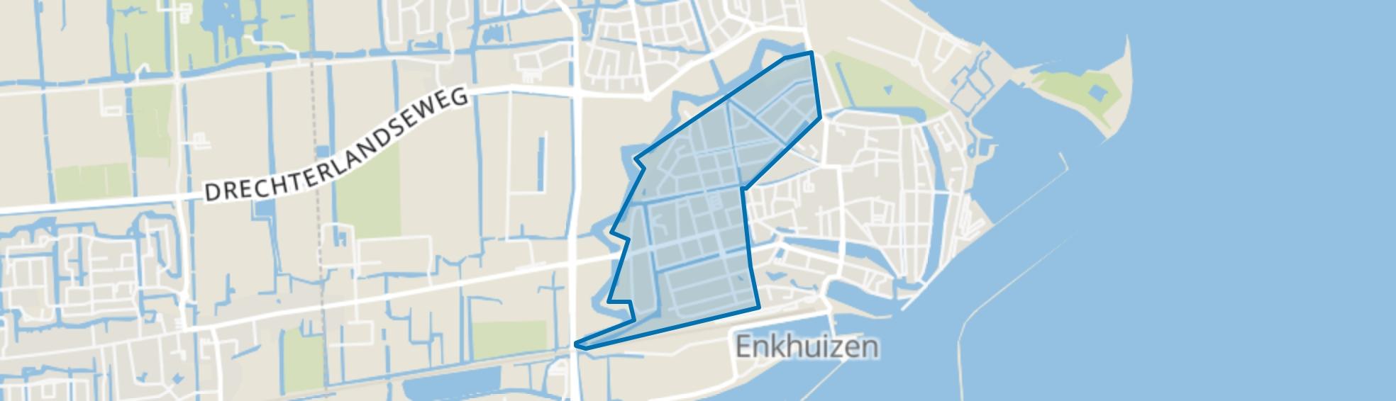 Boerenhoek Molenweg Burgwal, Enkhuizen map