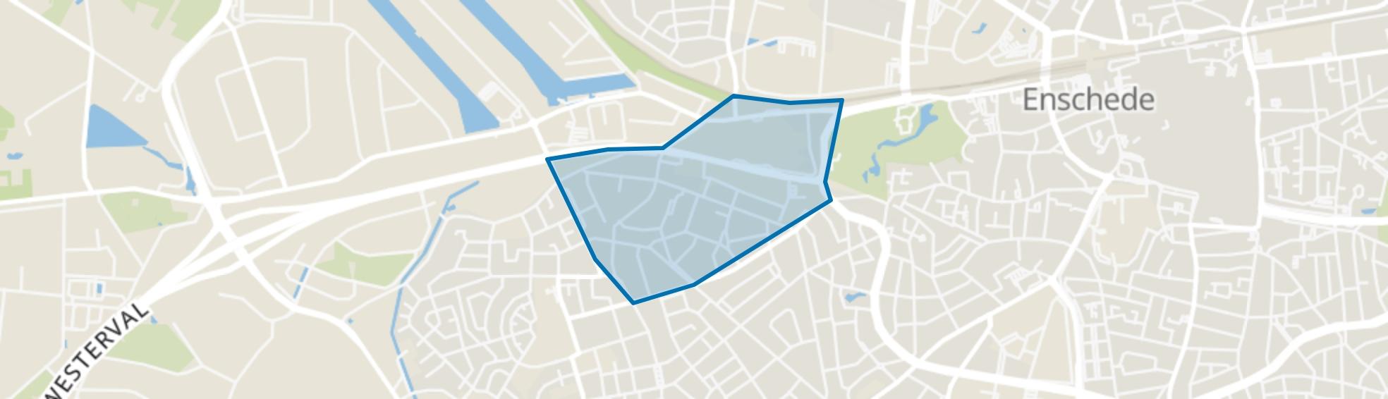 Elferink-Heuwkamp, Enschede map