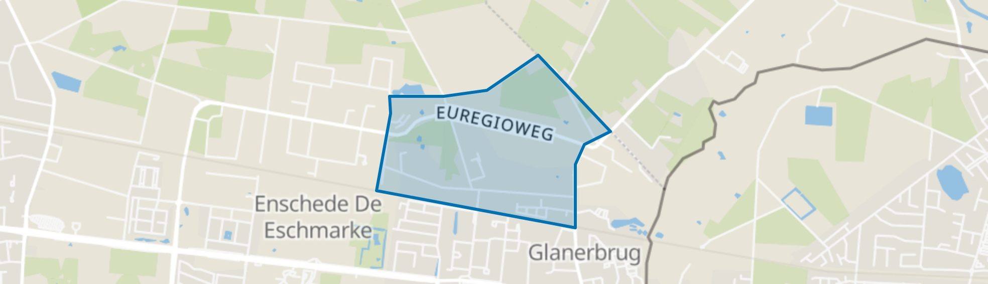 Glanerveld, Enschede map