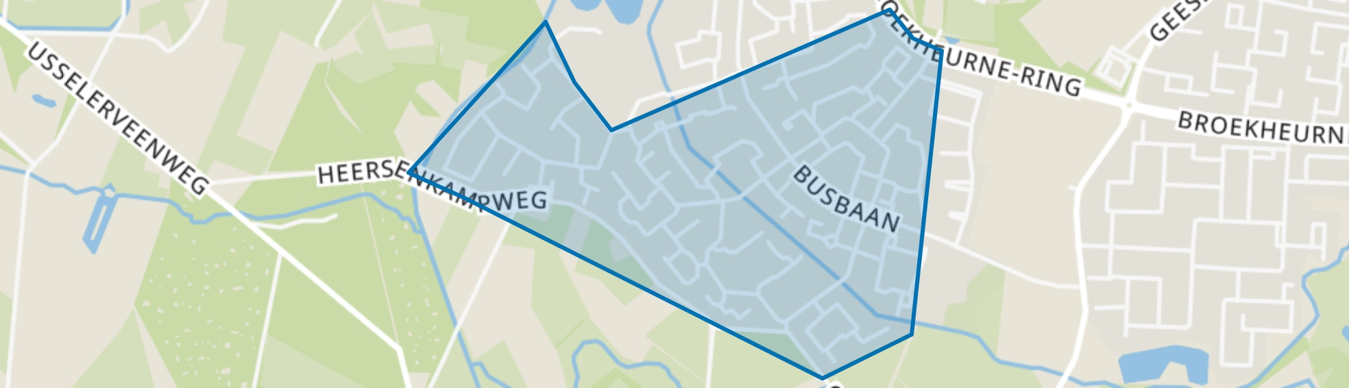 Helmerhoek-Zuid, Enschede map
