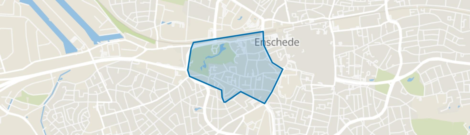Horstlanden-Stadsweide, Enschede map