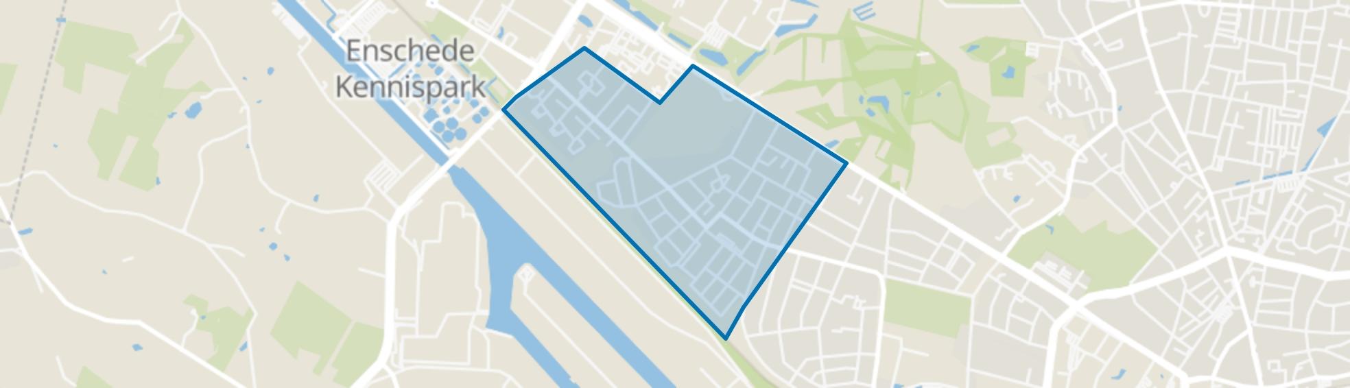 Twekkelerveld, Enschede map