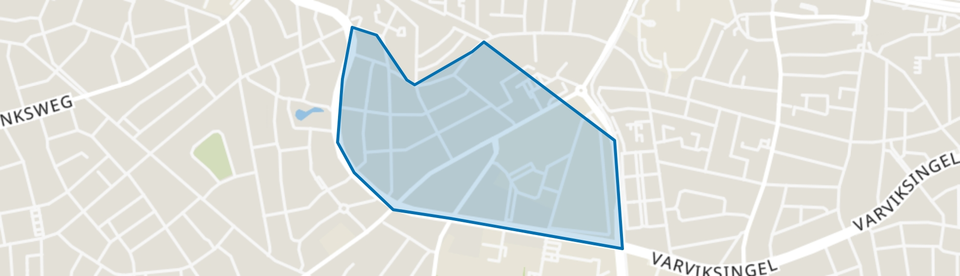 Veldkamp-Getfert-West, Enschede map