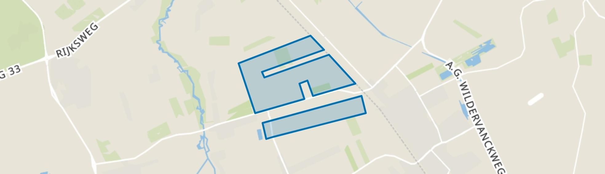 Verspreide huizen Gasselternijveenschemond, Gasselternijveenschemond map