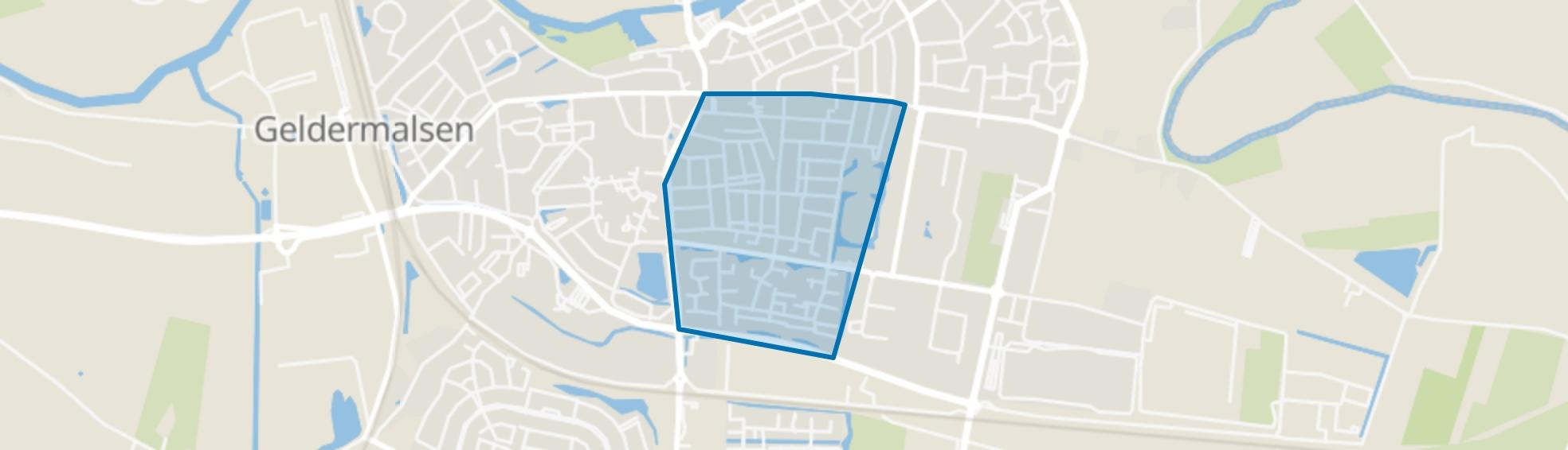 Geldermalsen Zuid, Geldermalsen map