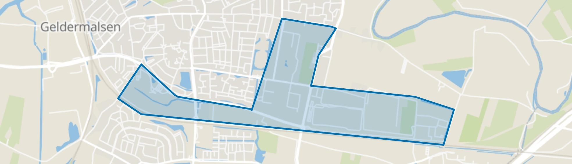 Verspreide huizen Zuidzijde, Geldermalsen map
