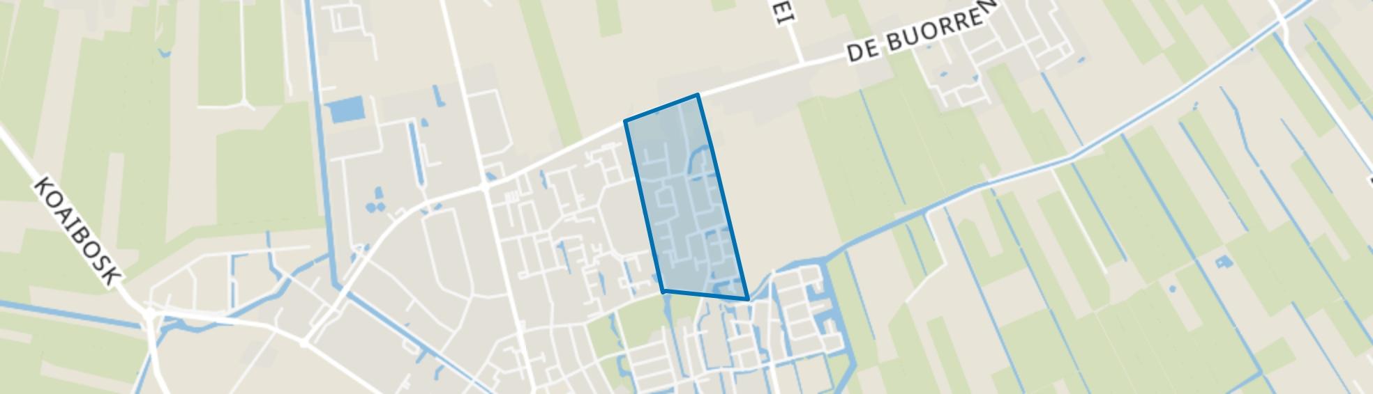 Gorredijk-Bloemenwijk, Gorredijk map
