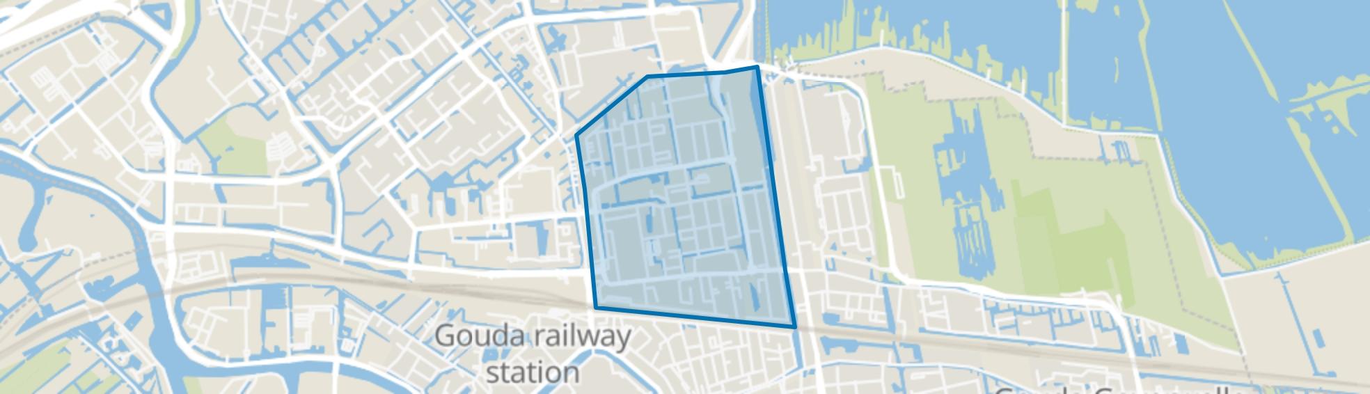 Ouwe Gouwe, Gouda map