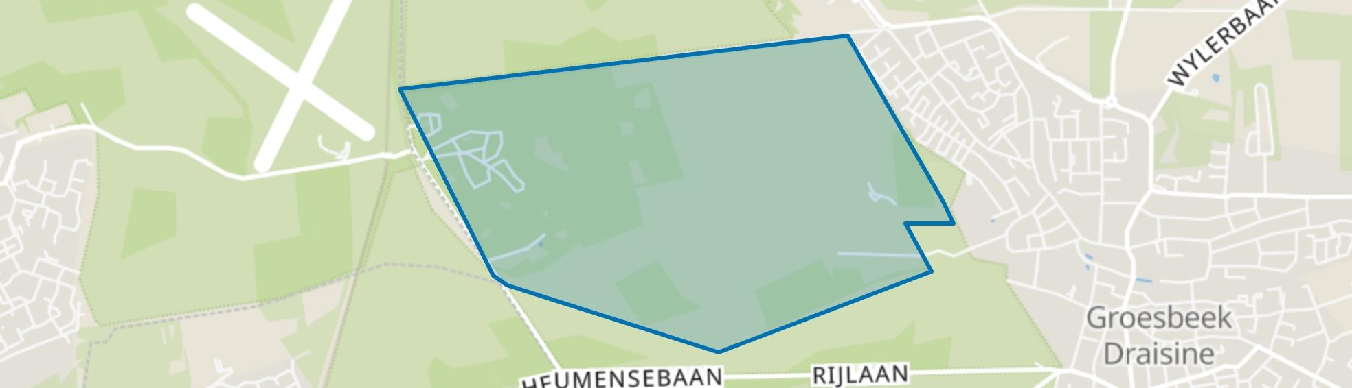Buitengebied Groesbeek-Midden-West, Groesbeek map