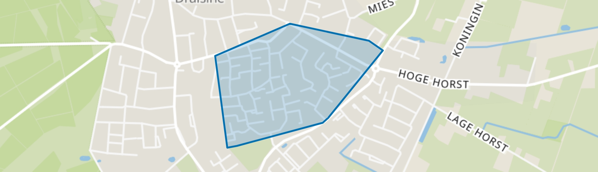 Groesbeek De Drul-Oost, Groesbeek map