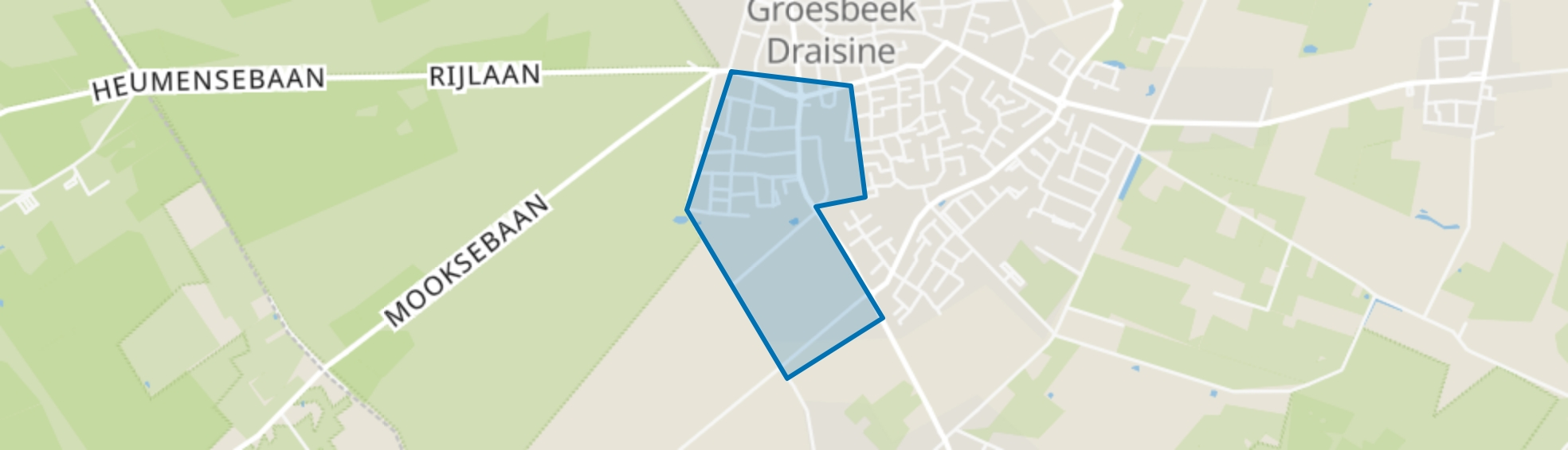 Groesbeek De Drul-West, Groesbeek map