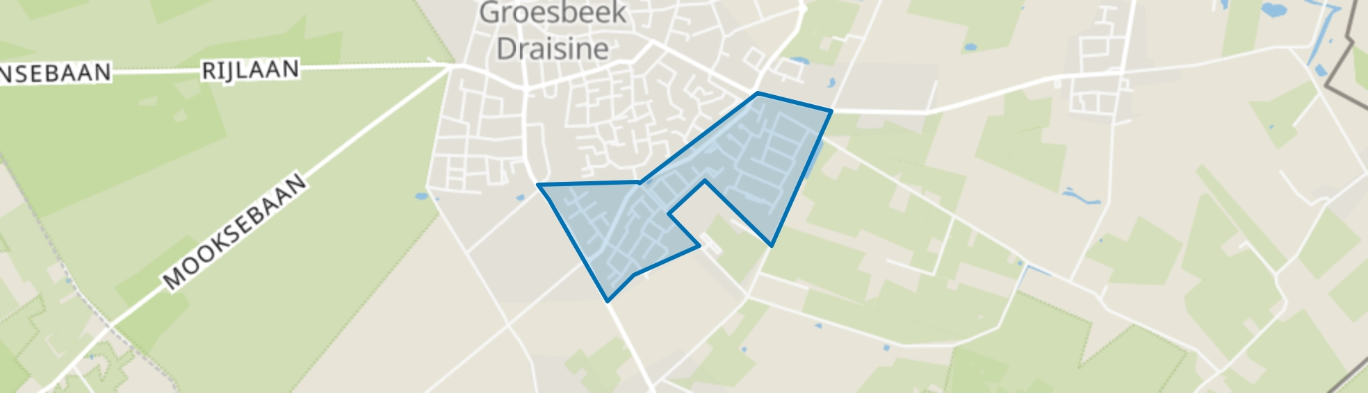 Groesbeek Nijerf, Groesbeek map