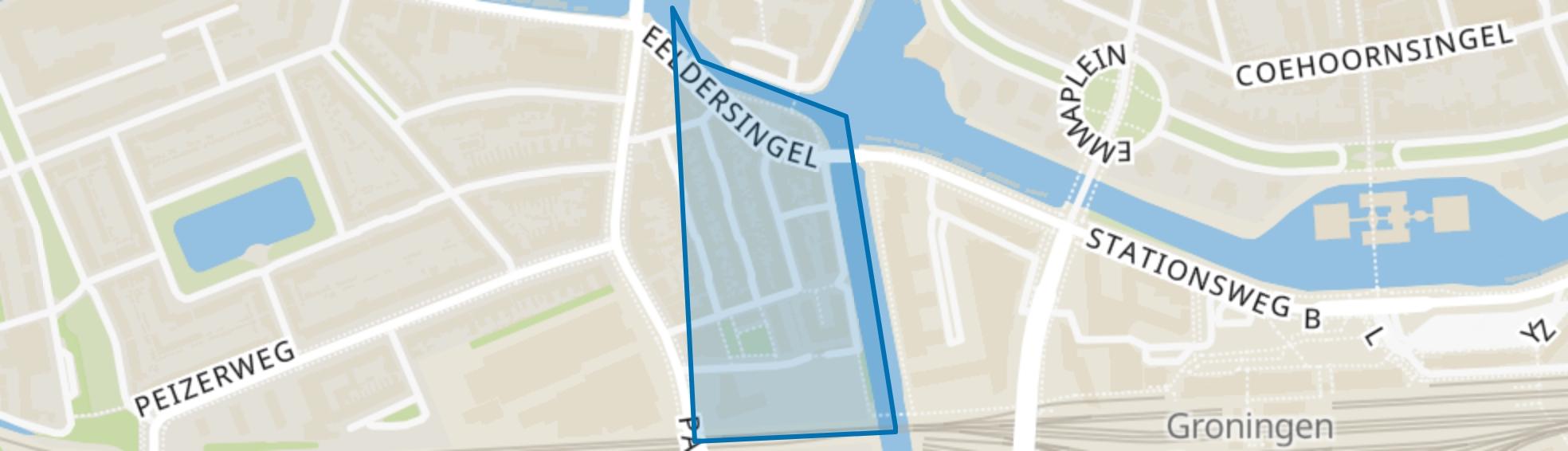 Badstratenbuurt, Groningen map