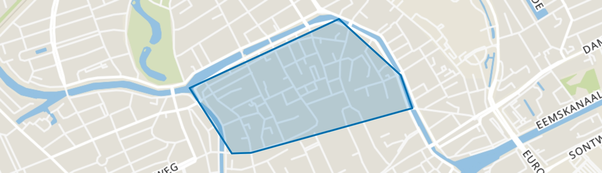 Binnenstad-Noord, Groningen map