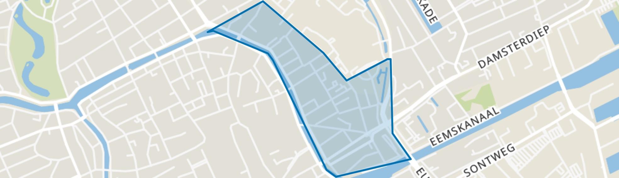 Binnenstad-Oost, Groningen map