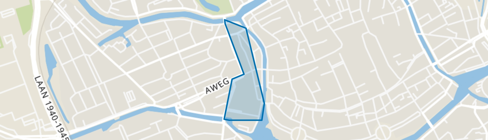 Binnenstad-West, Groningen map