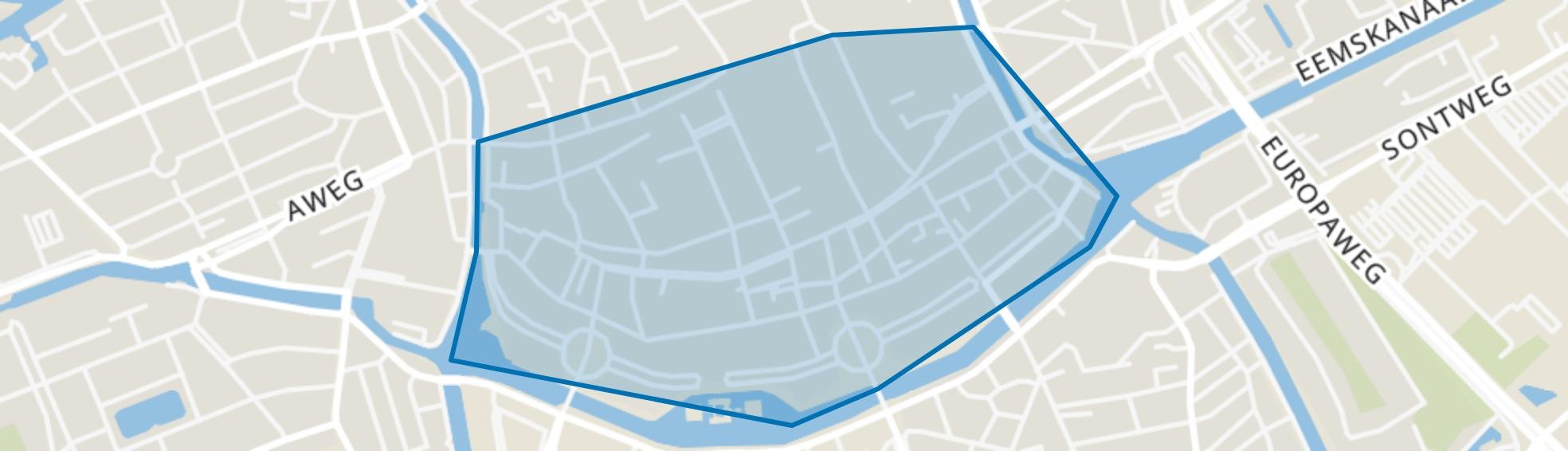 Binnenstad-Zuid, Groningen map