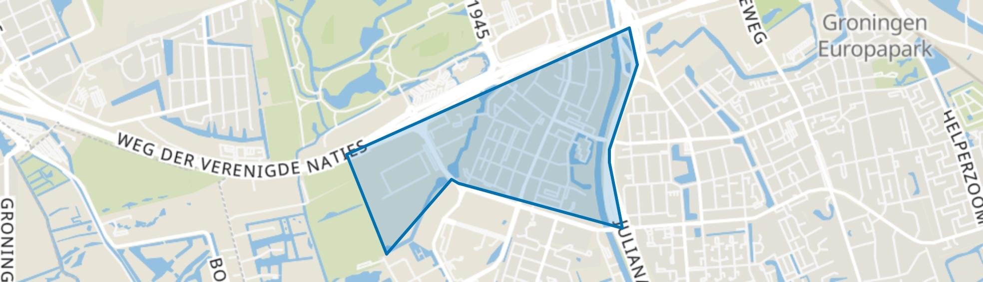 Corpus den Hoorn, Groningen map