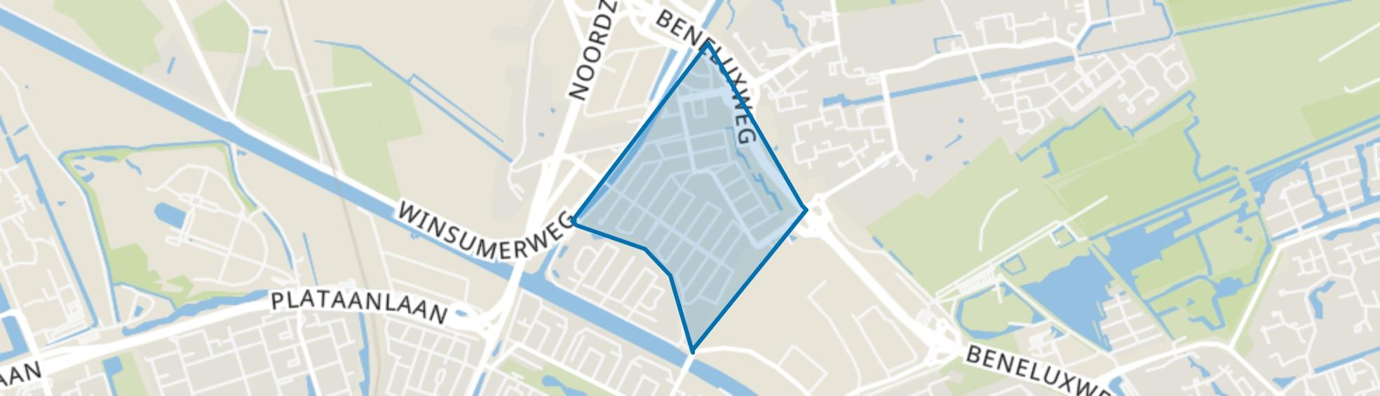 De Hunze, Groningen map