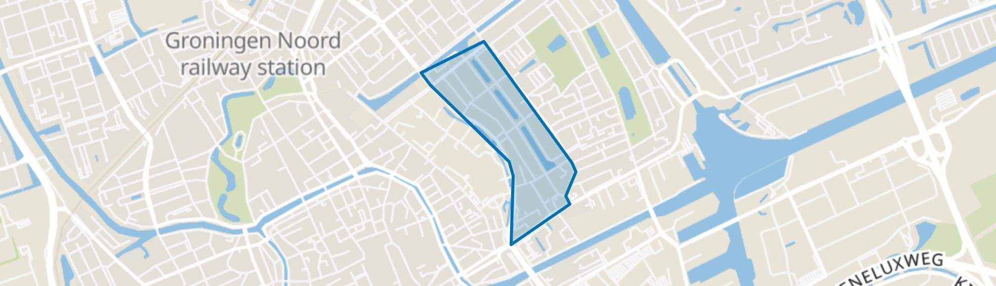 Gorechtbuurt, Groningen map