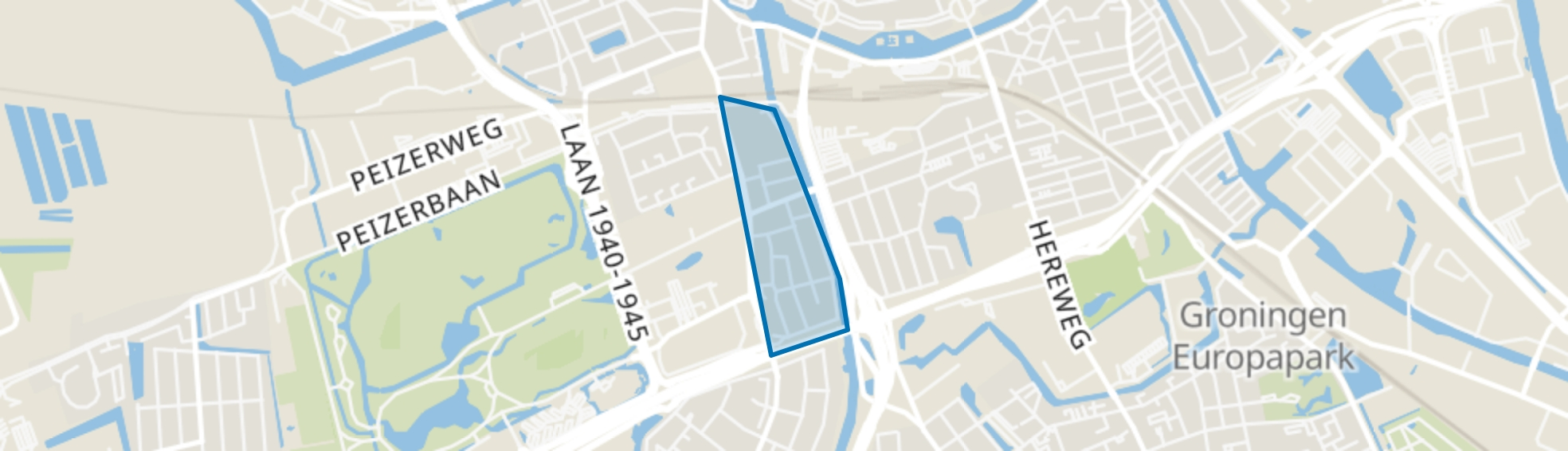 Grunobuurt, Groningen map