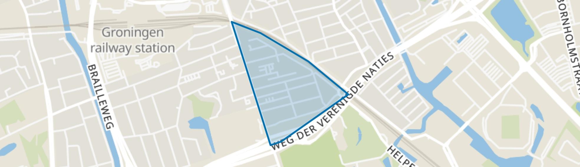 Herewegbuurt, Groningen map