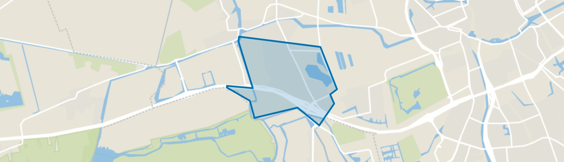 Hoogkerk-Zuid, Groningen map