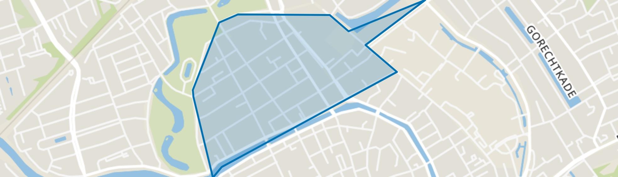 Hortusbuurt-Ebbingekwartier, Groningen map