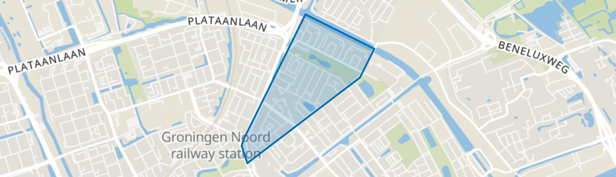 Indische buurt, Groningen map