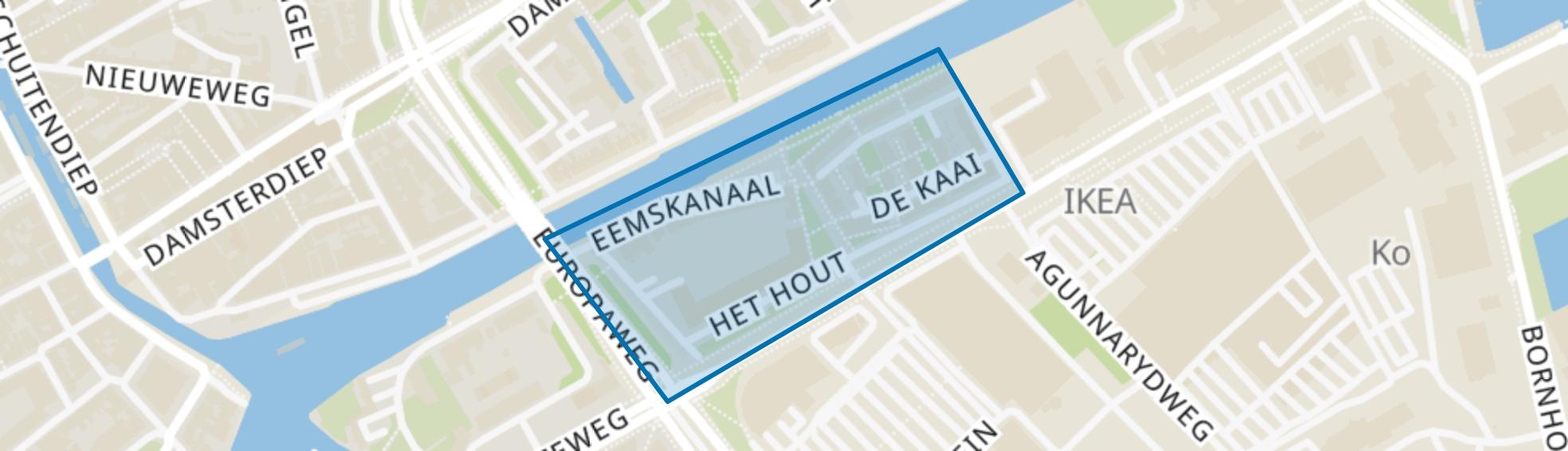 Kop van Oost, Groningen map