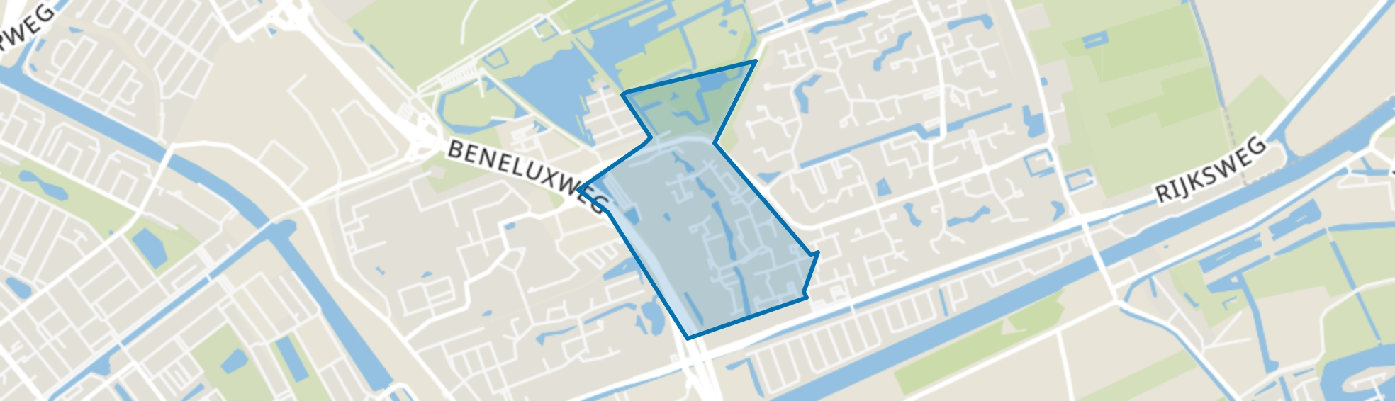 Lewenborg-West, Groningen map